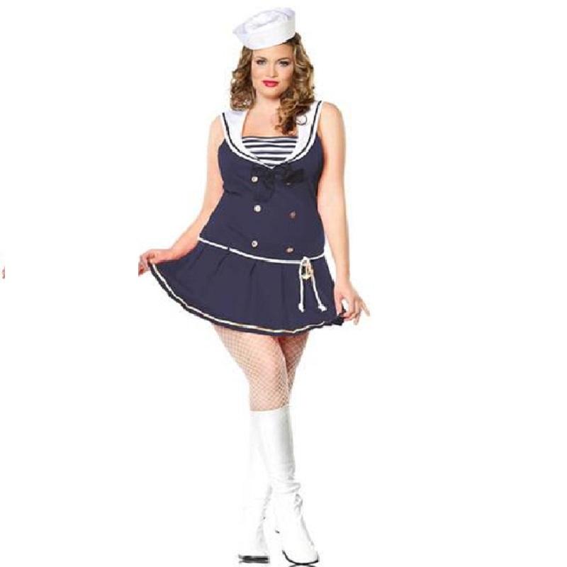 Leg Avenue Women\'s Shipmate Cutie Plus Size Dress