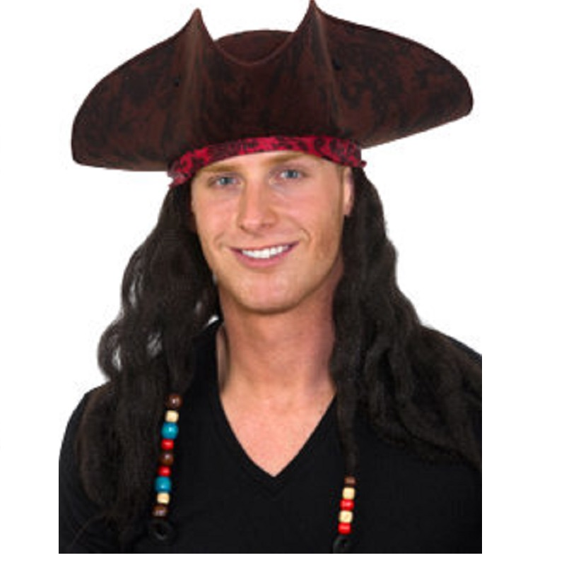 c3836a30cec13 PIRATE HAT WITH WIG AND BANDANA  18.99 VIEW