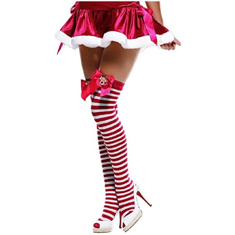 4c422dd7566 RUDOLF CHRISTMAS THIGH HIGHS  9.99 VIEW STRIPED TWO TONE KNEE HIGH SOCKS ...